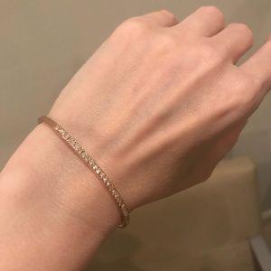 KATE SPADE 18K Rose Gold Pave CZ Cuff Bracelet NWT